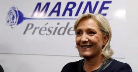 Marine Le Pen en tête au 1er tour, largement devancée au 2e tour, selon un sondage