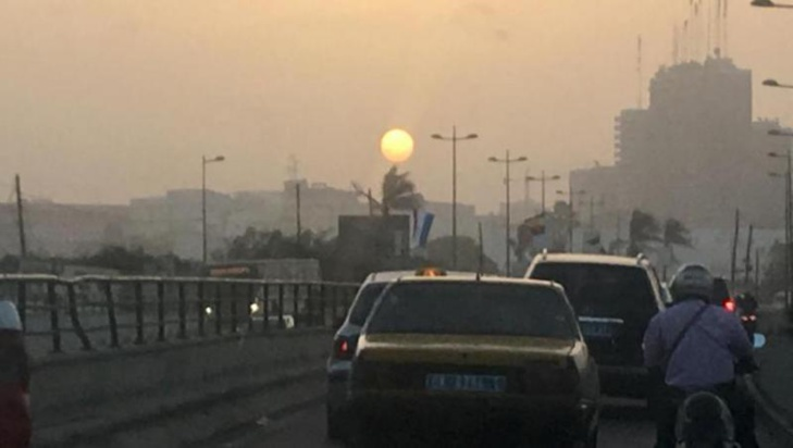 Pollution de l'air: Dakar sous une nappe de particules fines