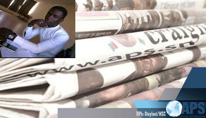 Presse-revue: La mort de l'étudiant Mouhamadou Fallou SÈNE à la Une