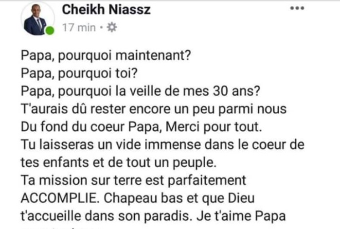 Me Cheikh Niasse, fils de Sidy Lamine : « Papa, pourquoi maintenant, à la veille de mes 30 ans ? »