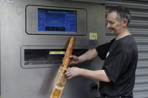 Un distributeur automatique de pain frais installé à Paris