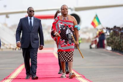 Les images de l'arrivée du roi de l'Eswatini, en visite officielle au Sénégal