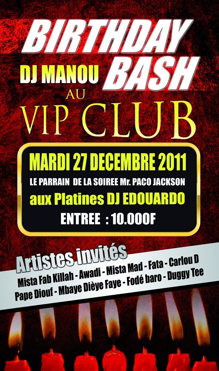 Anniversaire Dj Manou au VIP CLUB
