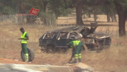 Photos - Les images de l'accident qui a coûté la vie à Serigne Abdourahmane Fall Tilala, son épouse et son chambellan