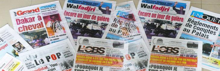 PRESSE-REVUE :Les affaires visant Luc Nicolaï et Karim Wade traitées en priorité