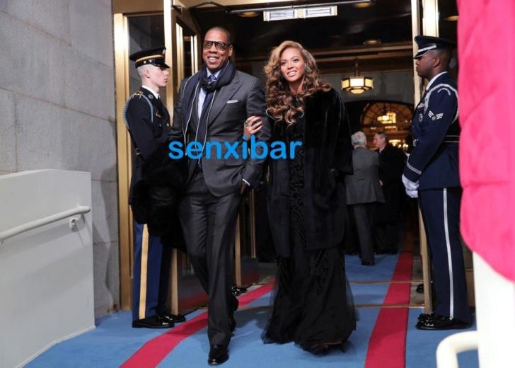 Voici Jay z et sa charmante femme Beyonce très élégant lors du prestation serment du président Obama