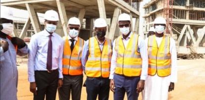 Visite de chantier du Datacenter de l'ADIE et PTN de Diamniadio : M.Yankhoba DIATARA en monitoring « fast track »