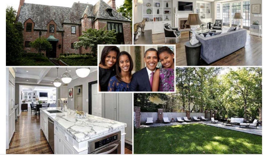 Photos regardez la belle maison o vont habiter barack for Adresse de la maison blanche