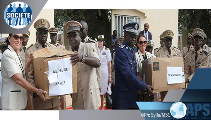 Coopération: Les Etats-unis offrent du matériel médicale d'une valeur de 389 millions de FCFA à l'Armée sénégalaise