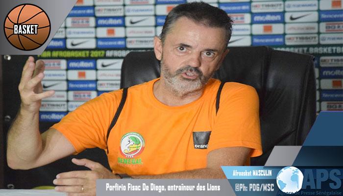 "Porfirio Fisac de Diégo: ""Les lions doivent se battre pour gagner chaque match''"