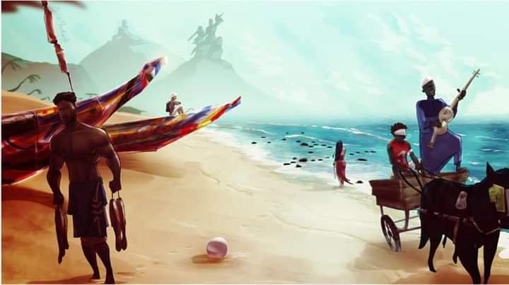 Le Sénégal vu par un dessinateur camerounais à travers un tableau