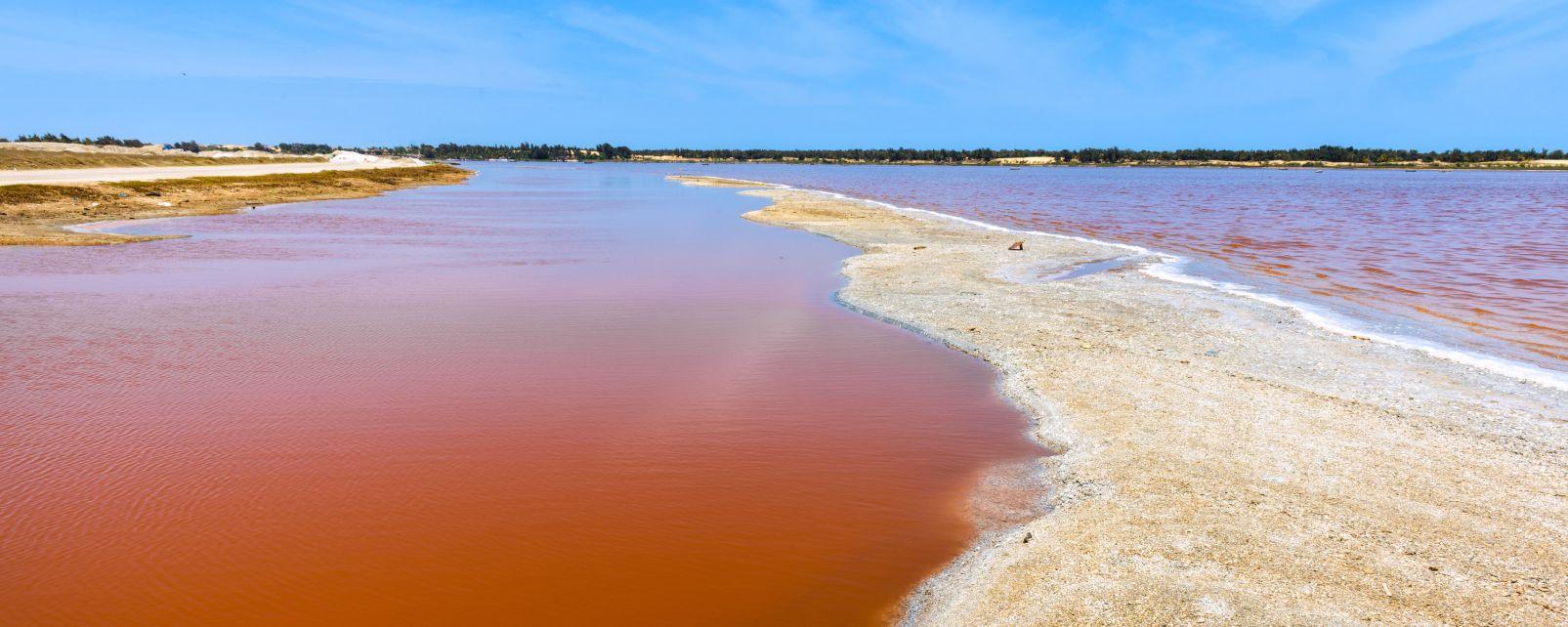 """Le lac Rose est en train """"de perdre sa couleur d'origine, et les touristes y sont harcelés"""""""