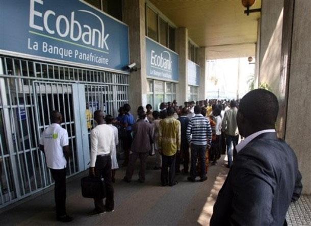 Finances: Ecobank ferme 13 de ses agences