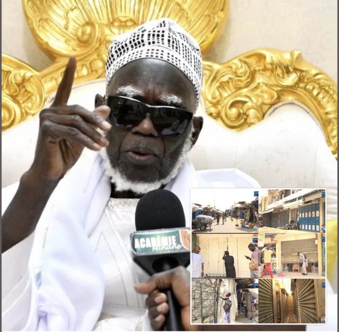 COVID-19 À TOUBA / Ndigël : Le Khalife ordonne la fermeture momentanée du marché Ocass. Énorme renfort policier pour le respect strict du port des masques ...j