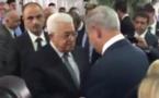 Netanyahu et Abbas se serrent la main aux funérailles de Peres