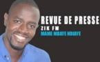 Revue de presse Zik Fm du 26 Novembre 2016 avec Mame M'baye N'diaye