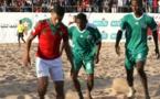 Remise du drapeau aux Lions du Beach Soccer, vendredi