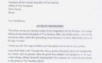 Urgent : Neneh Macdouall Gaye, ministre gambienne des Affaires étrangères à Dakar ( Document, lettre de démission)