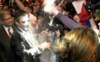 Candidat à la présidentielle française: François Fillon enfariné par un jeune homme à Strasbourg(vidéo)