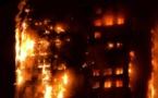 Grave incendie à Londres: Un immeuble de 24 étages détruit par les flammes fait six morts