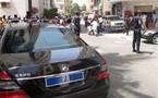 Le véhicule d'Abdoulaye Wade heurté et endommagé par un taxi