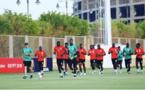 Entraînement de lendemain de match : Décrassage pour les titulaires de Sénégal-Algérie (0-1), petit jeu pour les remplaçants.