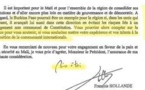Exclusif: La lettre de François Hollande qui mettait en garde Blaise Compaoré