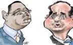 Arrêt sur image-La caricature de Macky et Hollande par Charlie Hebdo