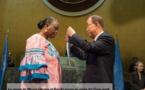 Remise de la médaille Capitaine Mbaye Diagne au siège de l'Onu à la veuve du soldat : Yacine n'a jamais Mar de son immortel