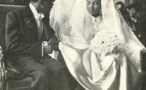 Le Président Senghor et sa première femme Ginette Eboué