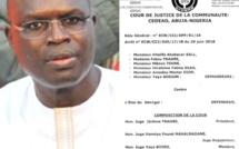 Affaire Khalifa Sall : voici l'arrêt rendu par la CEDEAO (Document DAKARACTU)